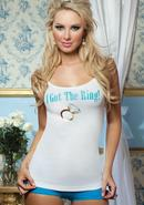 I Got The Ring White Cami One Size